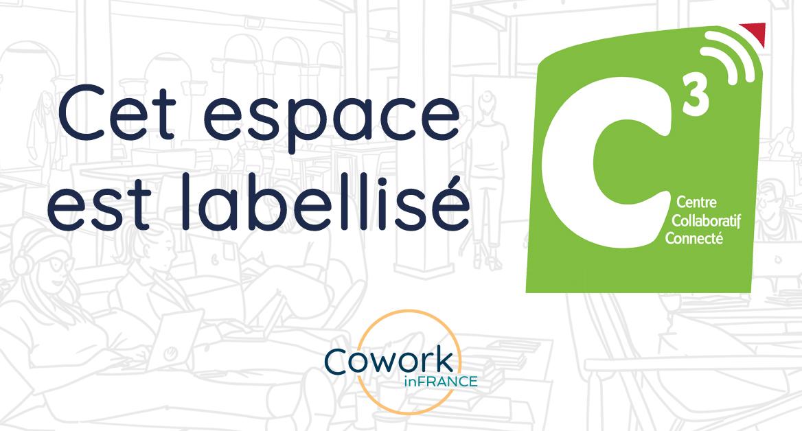 L'espace Coworking 42 à Fréjus Saint-Raphaël est labellisé C3